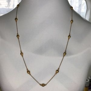 Vintage Gold tone color necklace